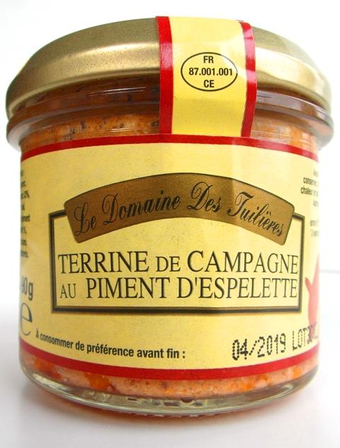 TERRINE de CAMPAGNE Farmárska terina pikantná s paprikou Espelet