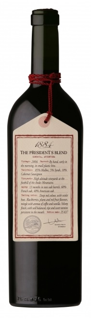The President´s Blend 1884 Mendoza Escorihuela Gascon wine Argen