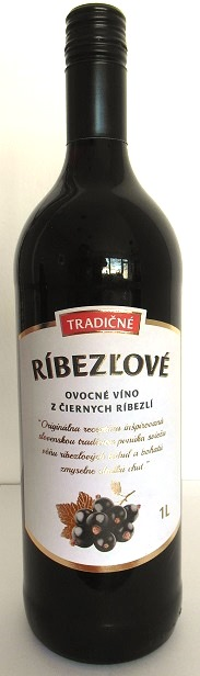 Tradičné ríbezľové ovocné víno z čiernych ríbezlí Topoľčianky