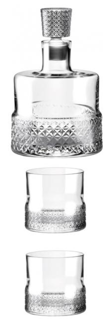 Whisky set sada cut Premium 850 ml fľ. 2 poháre, 1 uzáver Rona