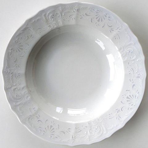 Bernadotte damask súprava tanierov 18 ks Thun Karlovarský porcel