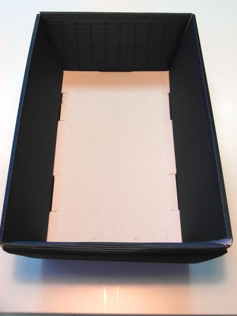 Darčekový box set krabica obal kôš košík pravouhlý modrý kartón