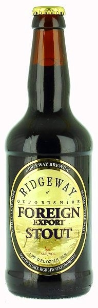 RIDGEWAY Oxfordshire Foreign Export Stout beer - pivo whole leaf